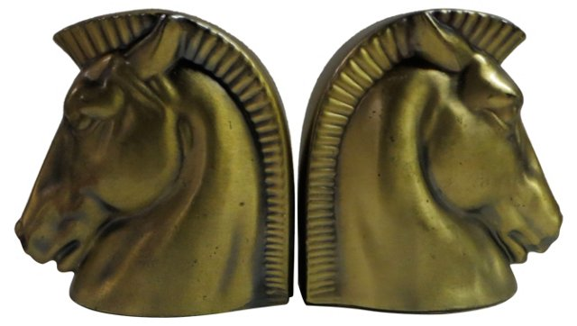 Midcentury Horse Bookends