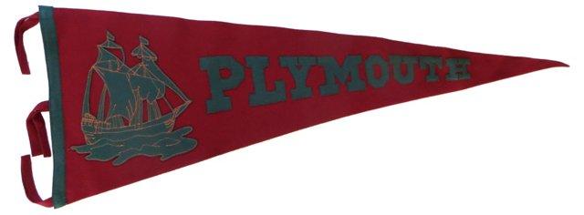 Plymouth Souvenir Pennant