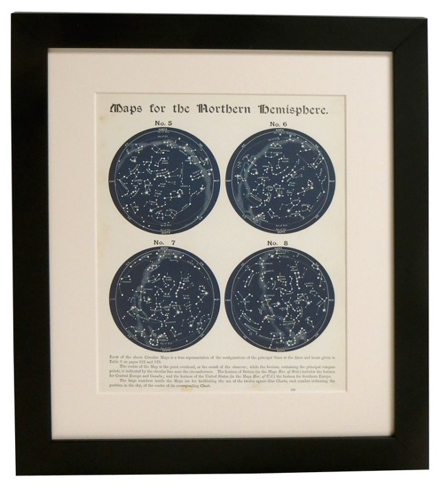 19th-C. Northern Hemisphere Star    Map
