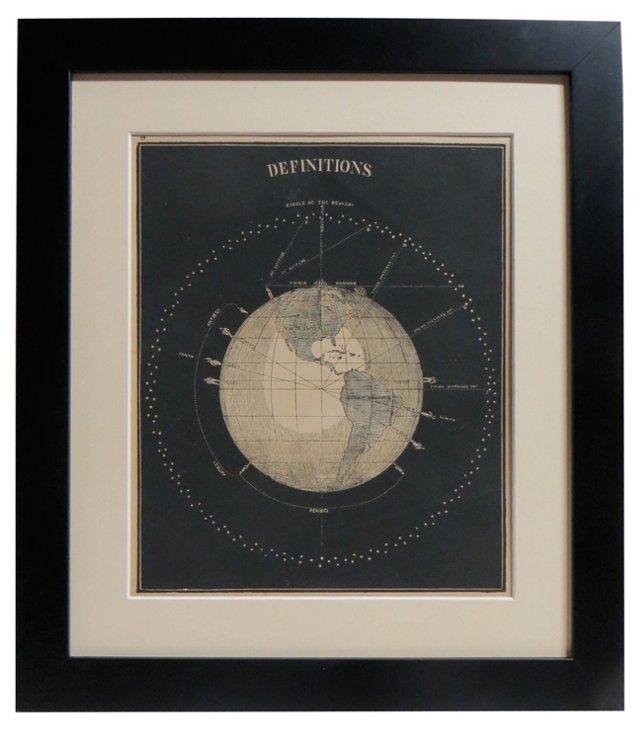 19th-C.  Celestial Print