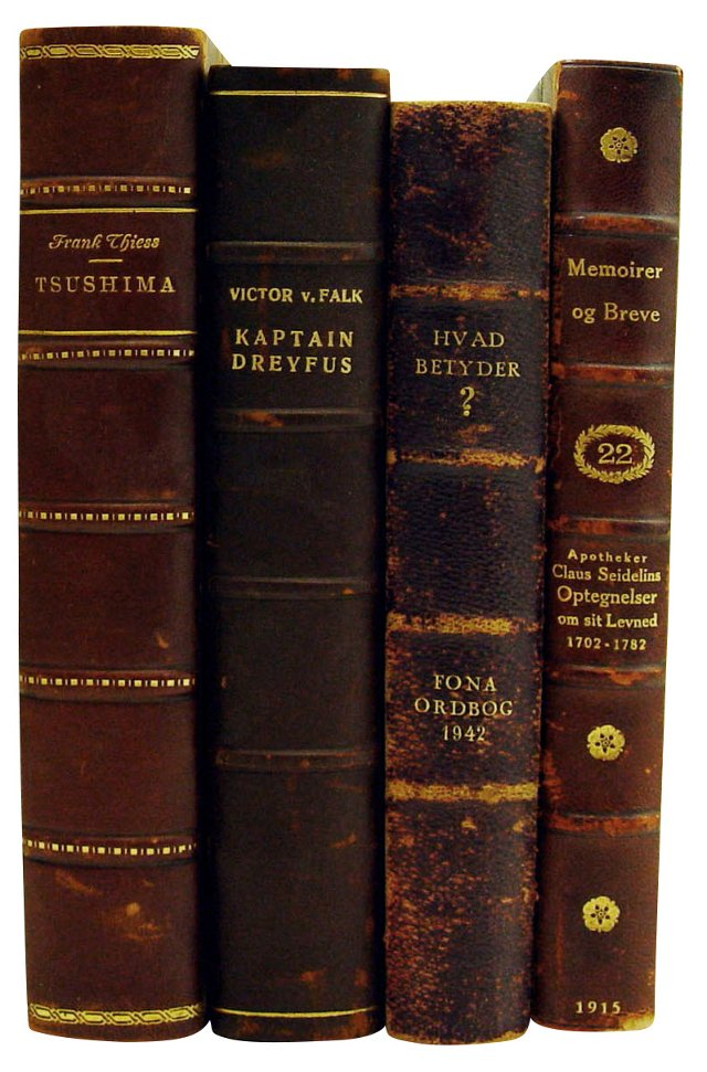 Decorative Danish Novels, 4 Vols