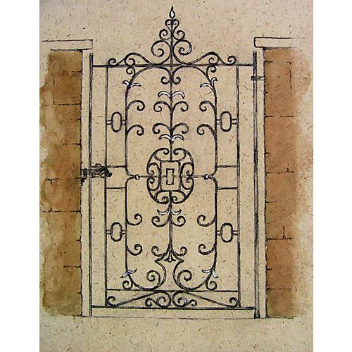 Artist Rendering Wrought Iron Gate