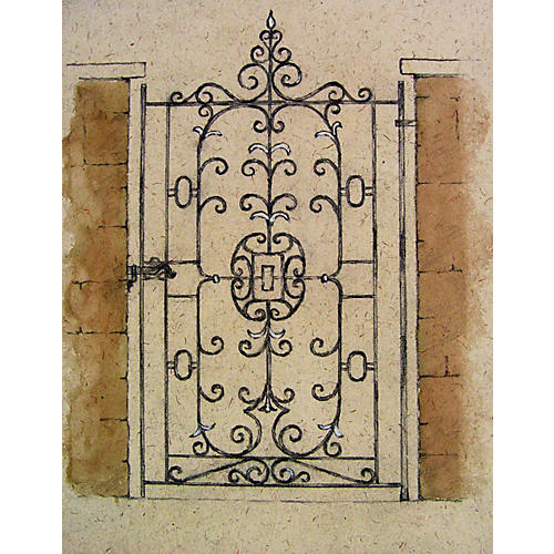 Artist Rendering Wrought Iron Gate