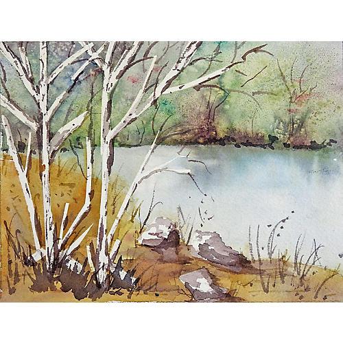 Serene Lakeside Landscape