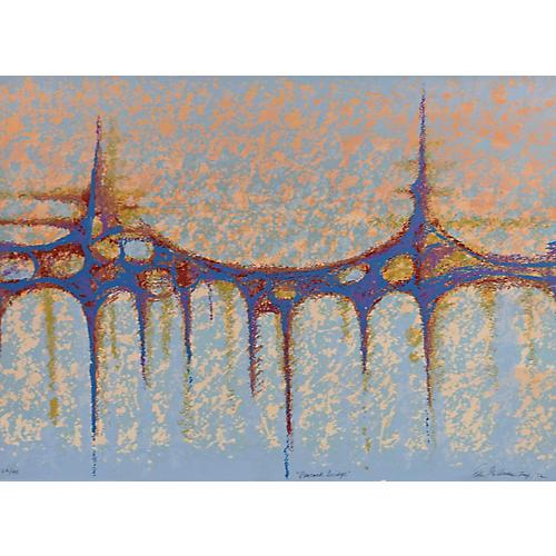 Peacock Bridge Print by E. Goldman