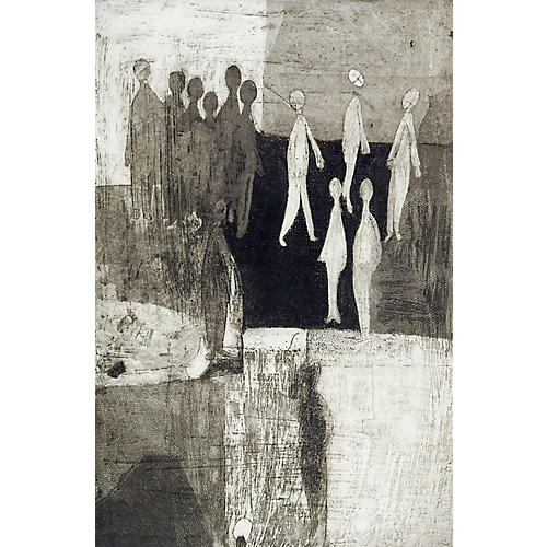 Abstract Etching by George Turner