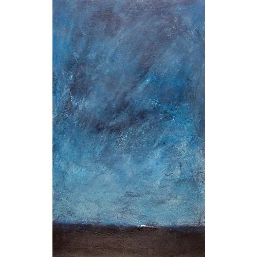Abstract Night Sky Monoprint