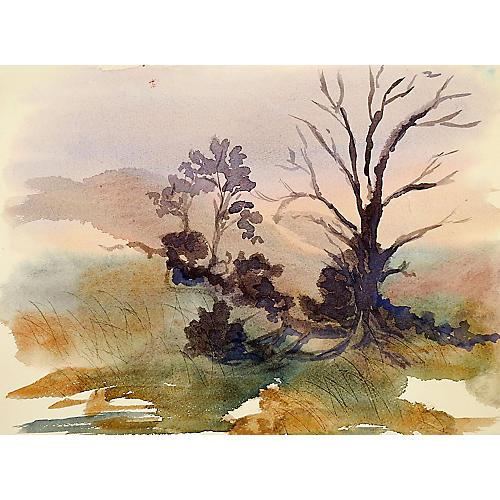 Plein Air Dawn Landscape