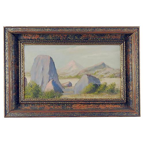 1930s Mountain Landscape