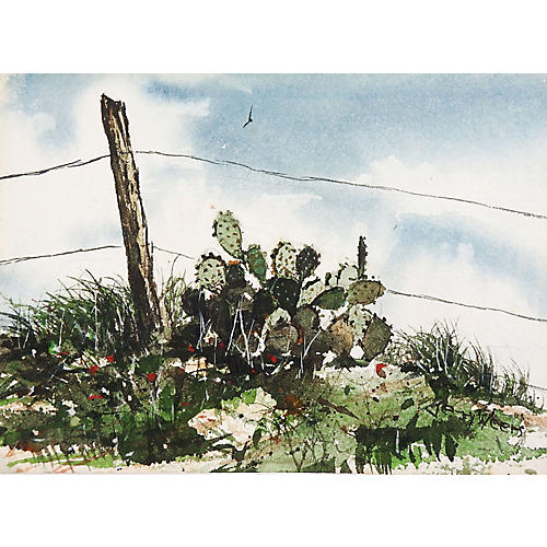 Cactus Watercolor by Jerry Weers