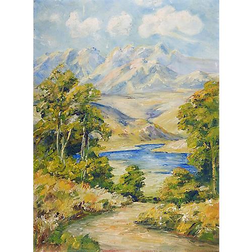 Impressionist Mountain Landscape