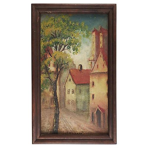 European Village Painting