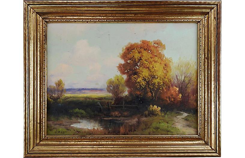 Robert Wood 1930's Landscape Painting