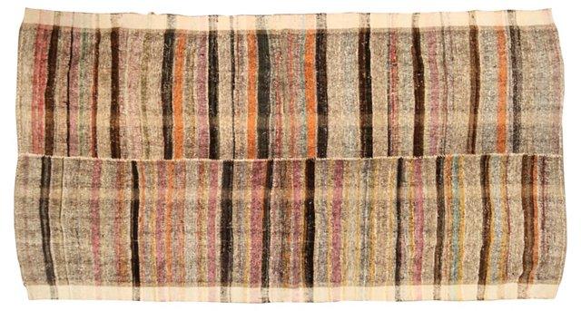 """Wool & Hemp Turkish Kilim, 5'8"""" x 10'2"""""""
