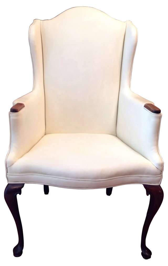 Queen Anne-Style Mahogany Armchair