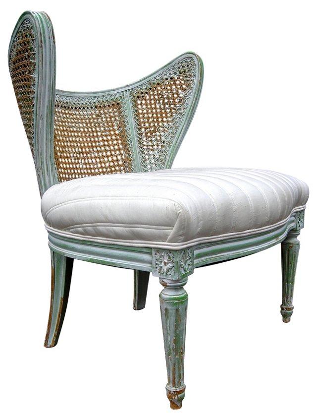 Caned  Slipper Chair