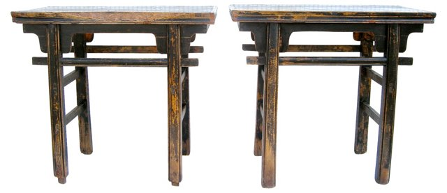 Petite Chinese Altar Tables, Pair