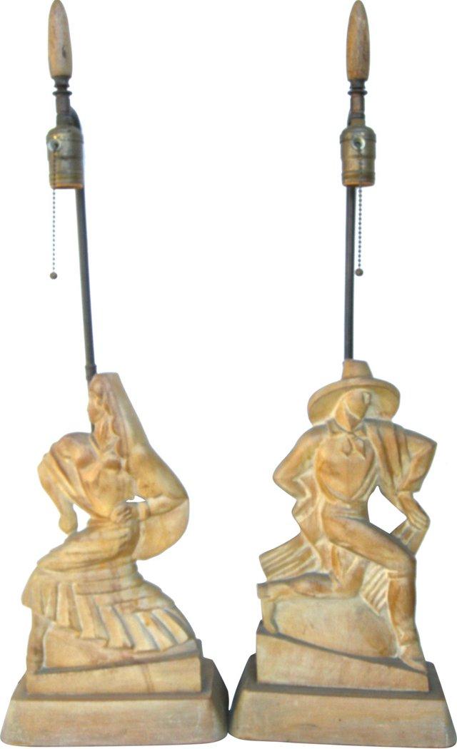 Flamenco Lamps, Pair