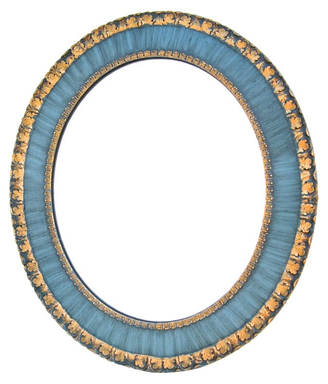 Continental Blue & Gilt Mirror