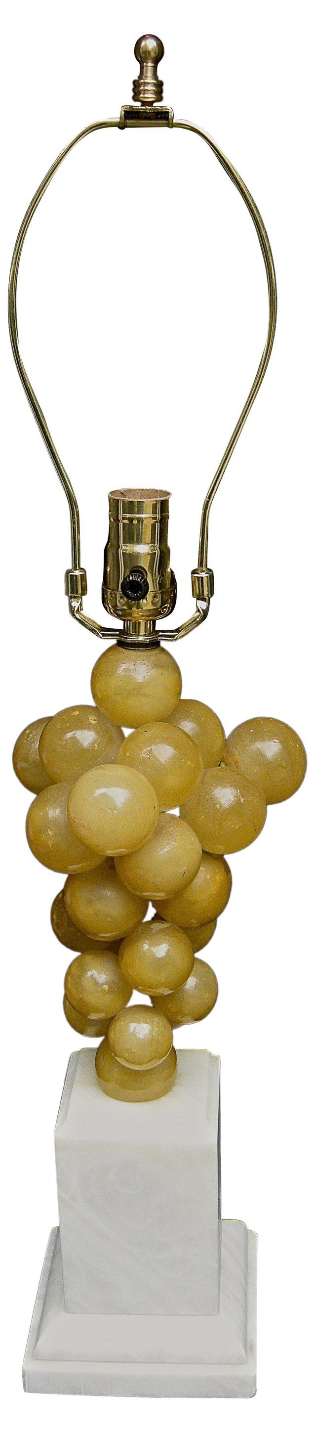 Amber Grape Topiary Lamp