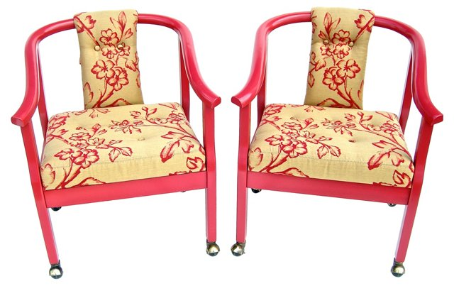 Asian-Style   Chairs, Pair