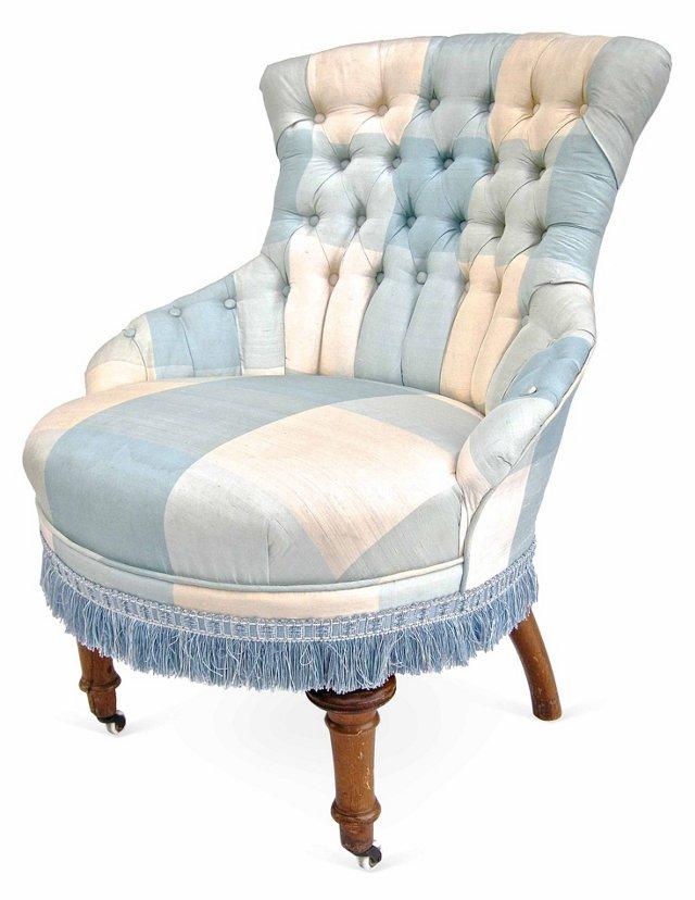Blue & White Boudoir  Chair