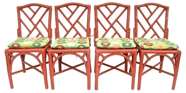 Fretwork Chairs, S/4