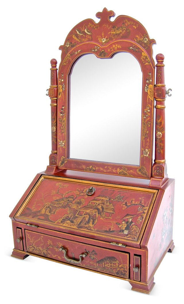 Chinoiserie Vanity Mirror On Chest