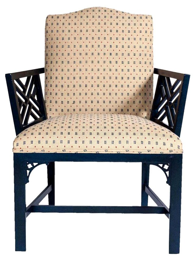 Midnight Blue Armchair
