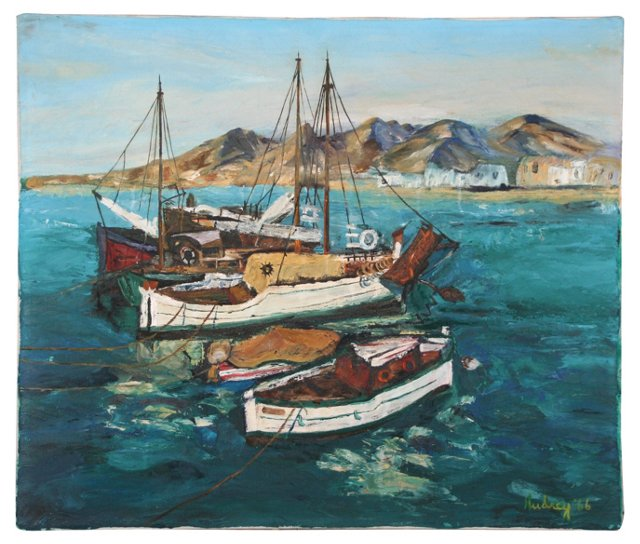 Anchored  Boats, 1966