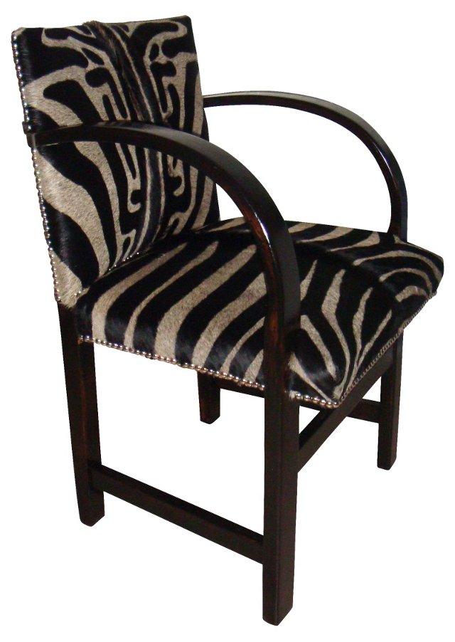 Zebra Cowhide Chair