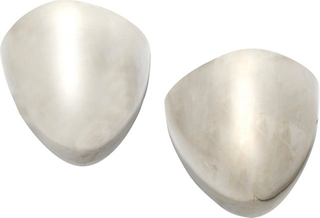 Chromed Sconces, Pair