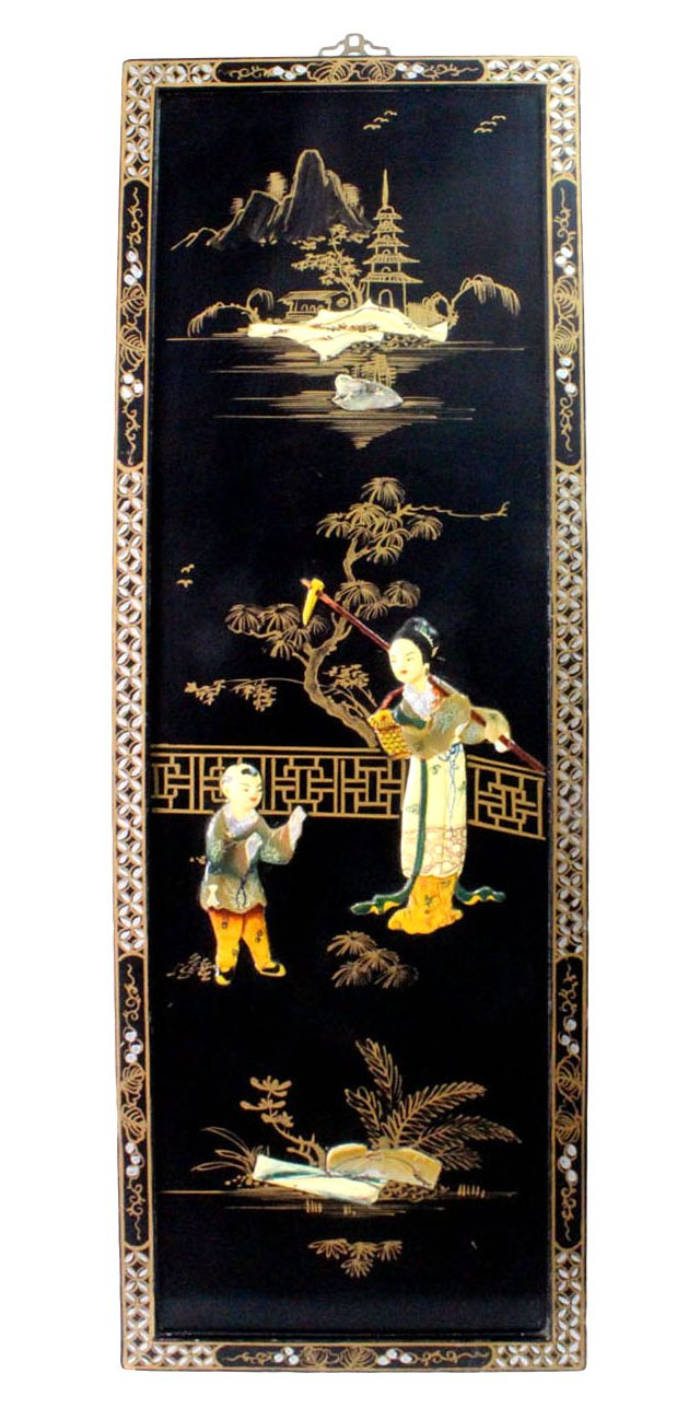 Asian Lacquered  Panel