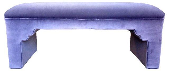Lavender Velvet Bench