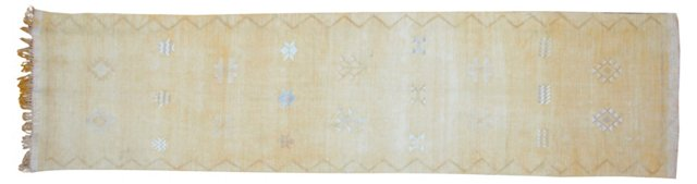 Moroccan Overdyed Runner, 9' x 2'