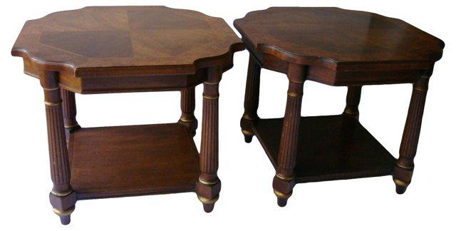Heritage End Tables, Pair