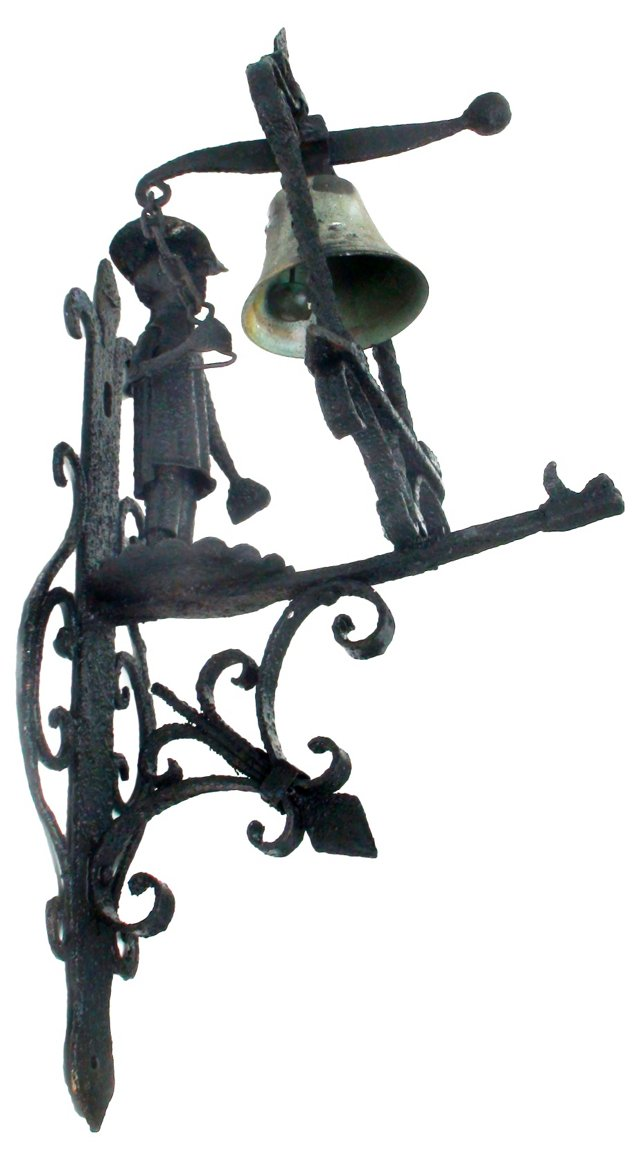 19th-C.    Figural Door    Bell