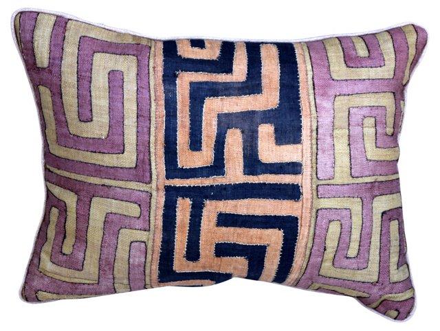 Black & Rust Kuba Cloth Pillow