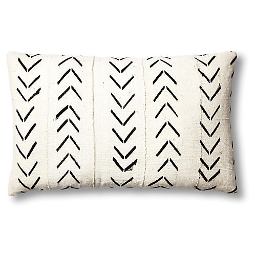 African Natural & Black Mud-Cloth Pillow