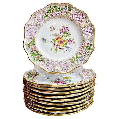 Antique Dresden Plates, S/9