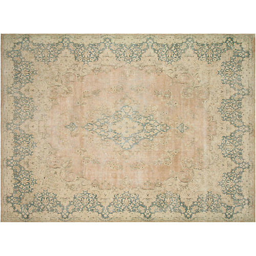 "Persian Distressed Carpet, 9'9"" x 13'"