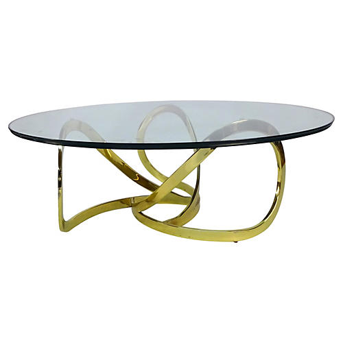 Freeform Brass Coffee Table