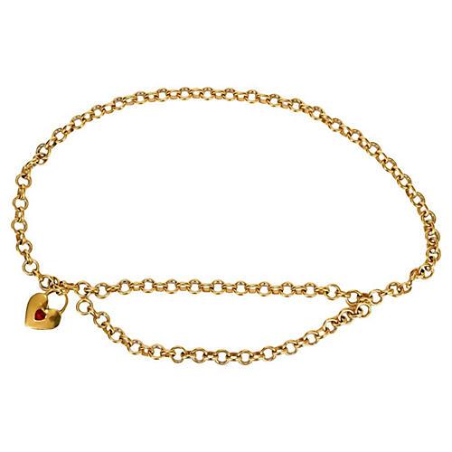 Chanel Gripoix Heart Necklace & Belt