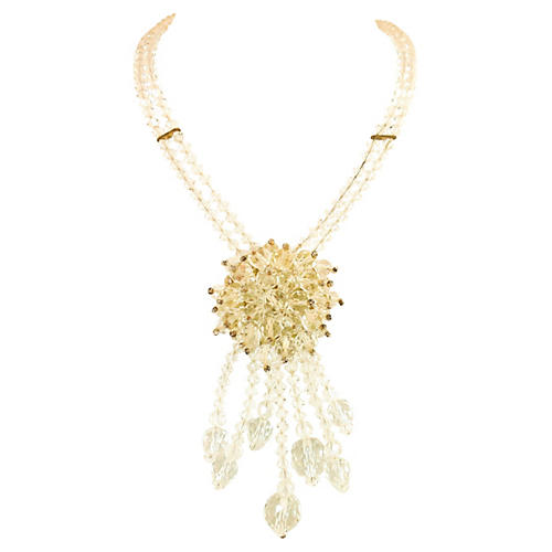 1930s Crystal Dangles Necklace
