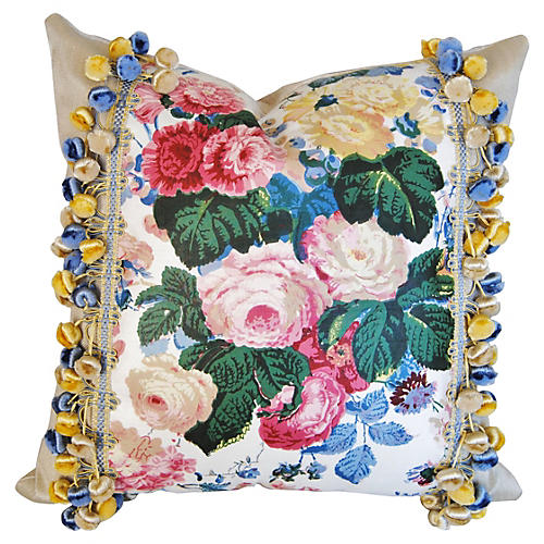 "Lee Jofa ""Floral Bouquet"" Pillow"