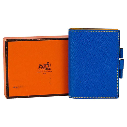 Hermès Blue & Yellow Notebook
