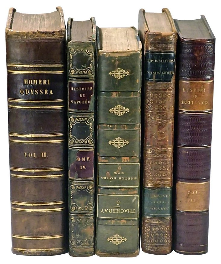 Leather-Bound Books, S/5