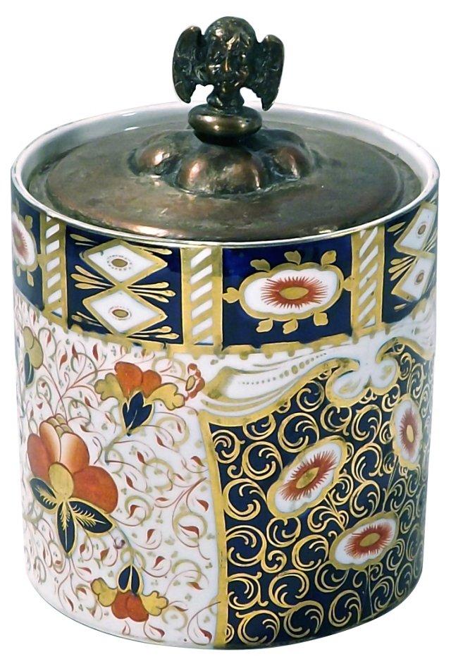 Antique Porcelain Davenport Floral Jar
