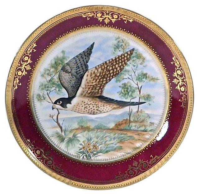 Limoges Porcelain Plate w/ Hawk