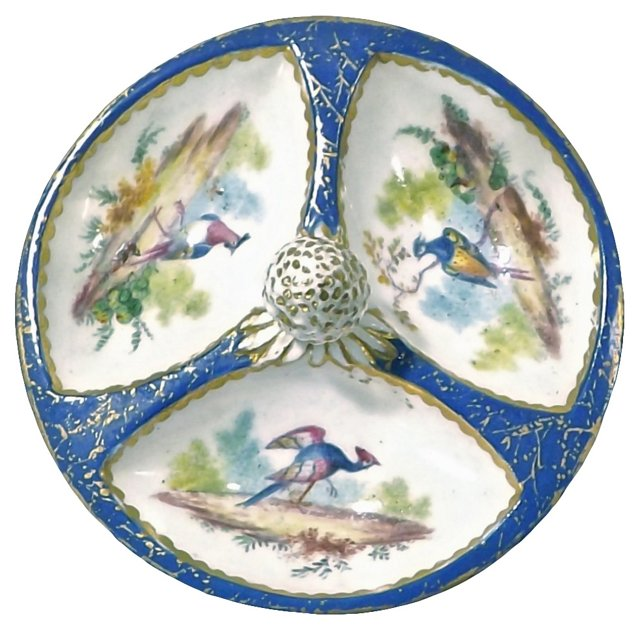 Antique Sèvres Porcelain Bird Dish